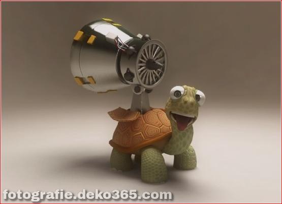3d cartoon turtle