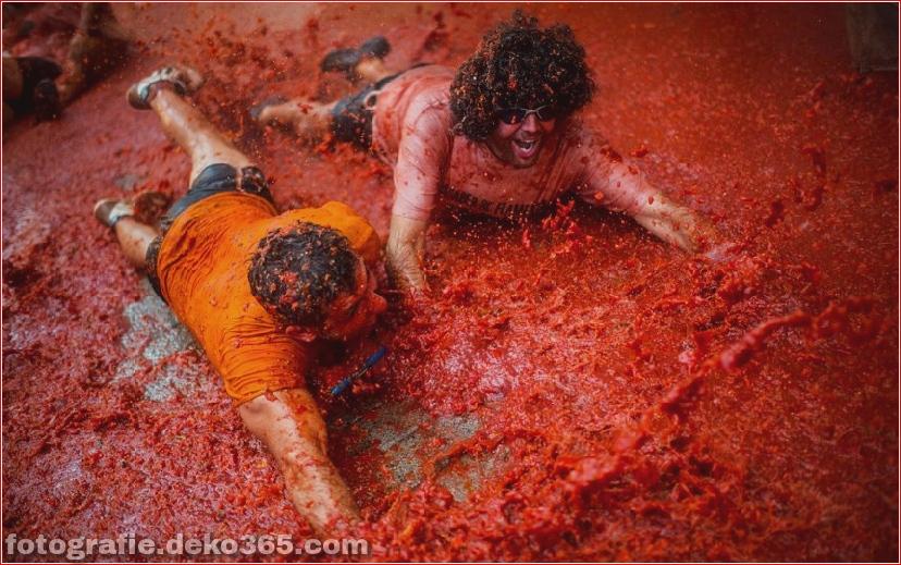 70. jährlicher Kampf mit Tomaten, in Fotografie (3)