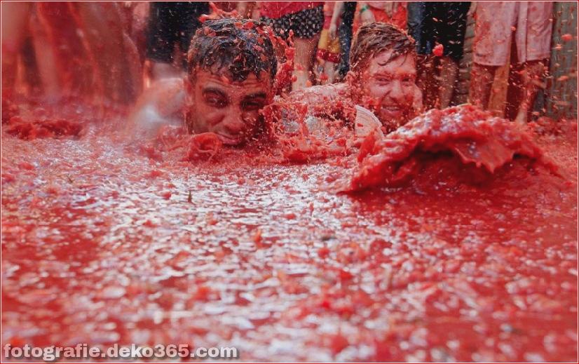 70. jährlicher Kampf mit Tomaten, in Fotografie (7)