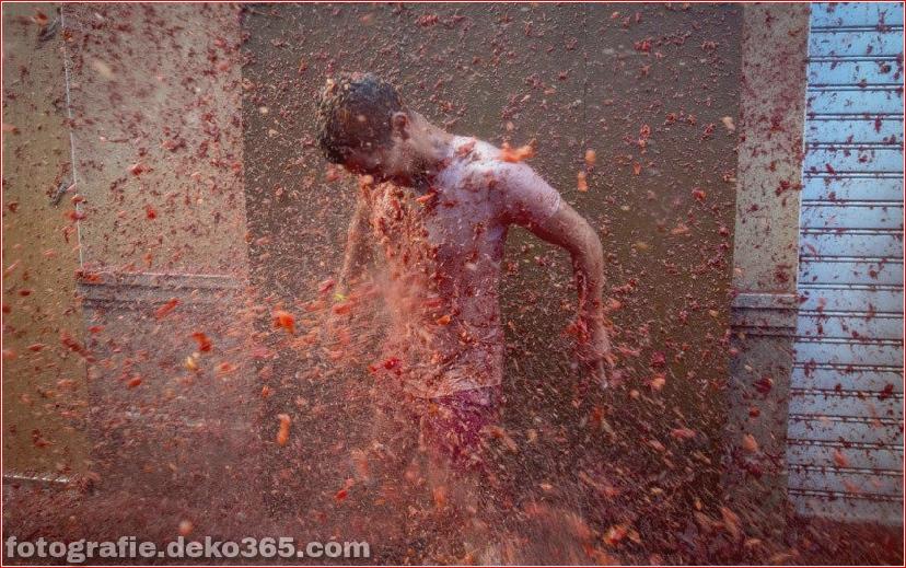 70. jährlicher Kampf mit Tomaten, in Fotografie (10)