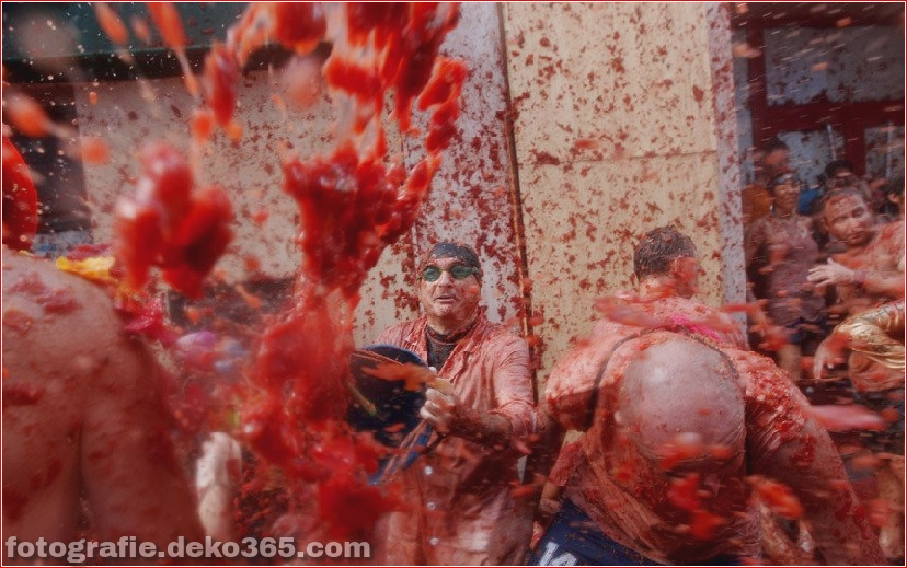 70. jährlicher Kampf mit Tomaten, in Fotografie (13)