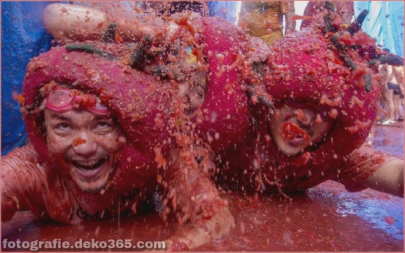 70. jährlicher Kampf mit Tomaten, in Fotografie (15)