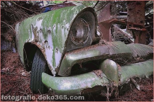 alte Autos aufgegeben