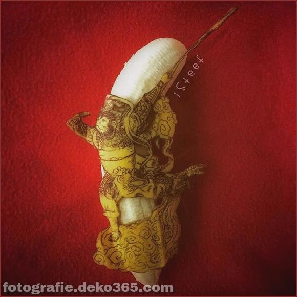 Wunderschöne Bananenschnitzkunst (10)
