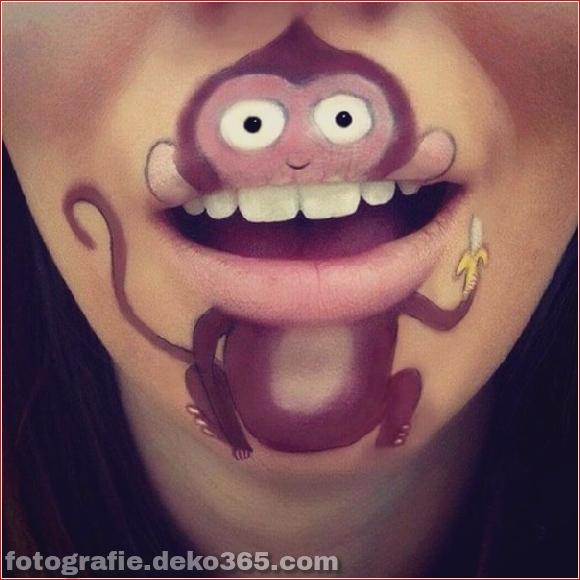 Lustiges Make-up auf den Lippen (1)