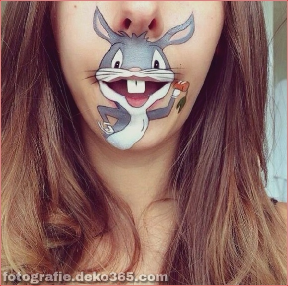 Lustiges Make-up auf den Lippen (2)