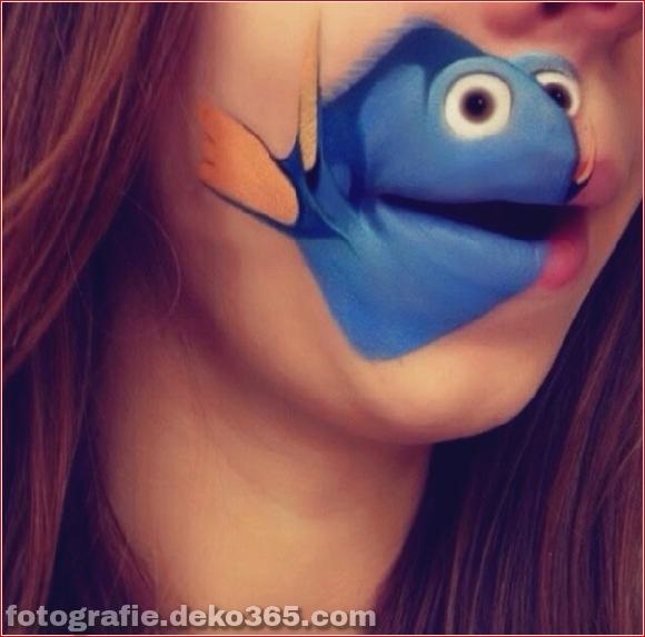 Lustiges Make-up auf den Lippen (4)