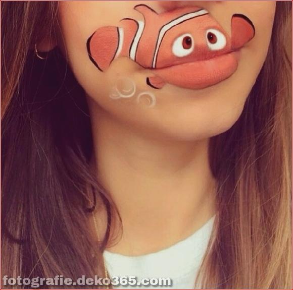 Lustiges Make-up auf den Lippen (5)