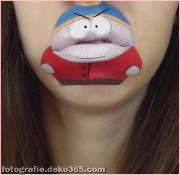 Lustiges Make-up auf den Lippen (7)