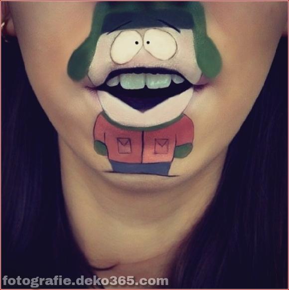 Lustiges Make-up auf den Lippen (8)