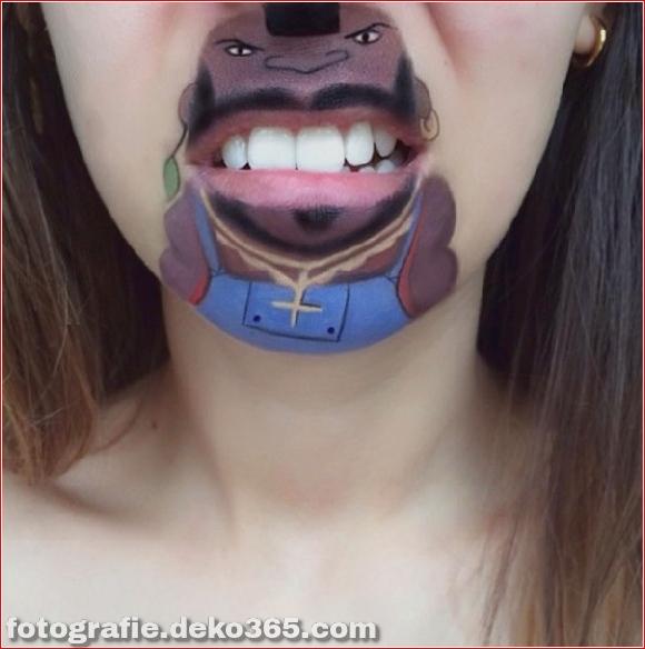 Lustiges Make-up auf den Lippen (9)