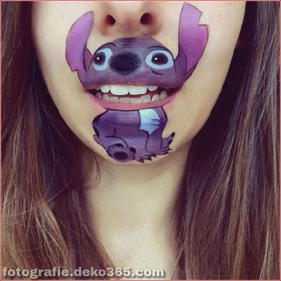 Lustiges Make-up auf den Lippen (11)