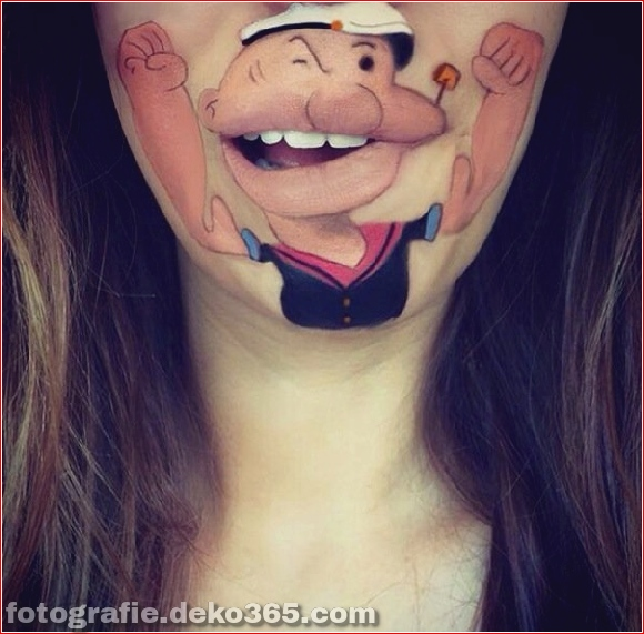 Lustiges Make-up auf den Lippen (14)