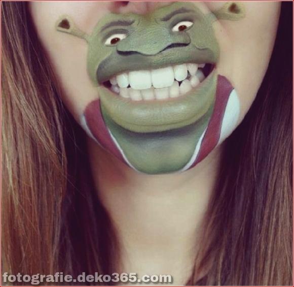 Lustiges Make-up auf den Lippen (15)