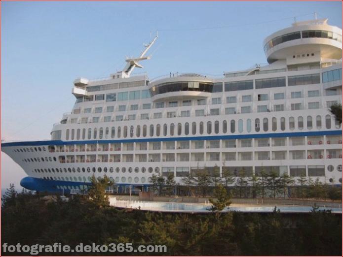schiffförmiges Hotel in Südkorea (1)