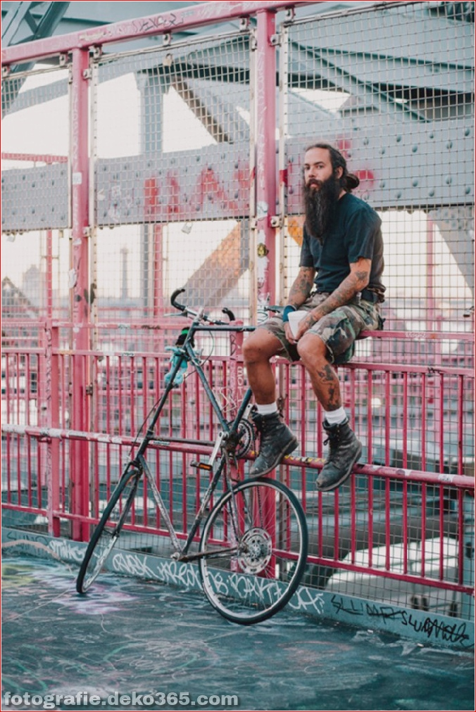 Portraits von angesagten New Yorkern mit ihren Rädern (17)