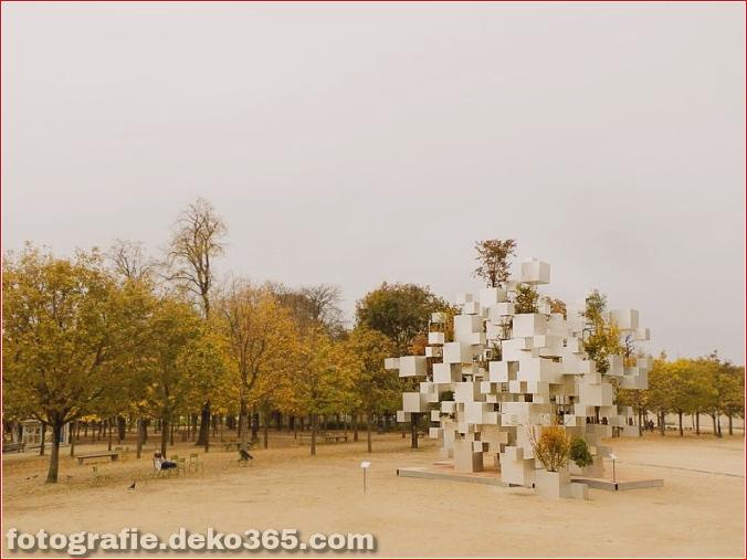 Pixel beeindruckende Skulptur in Paris (1)