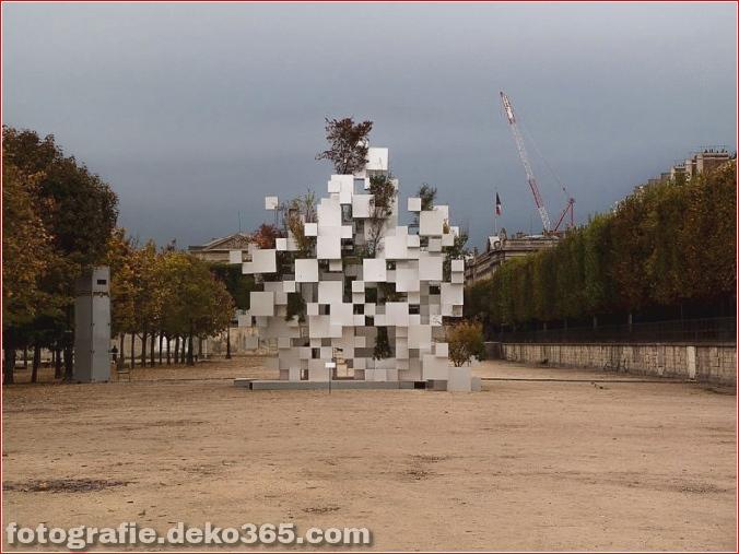 Pixel beeindruckende Skulptur in Paris (2)
