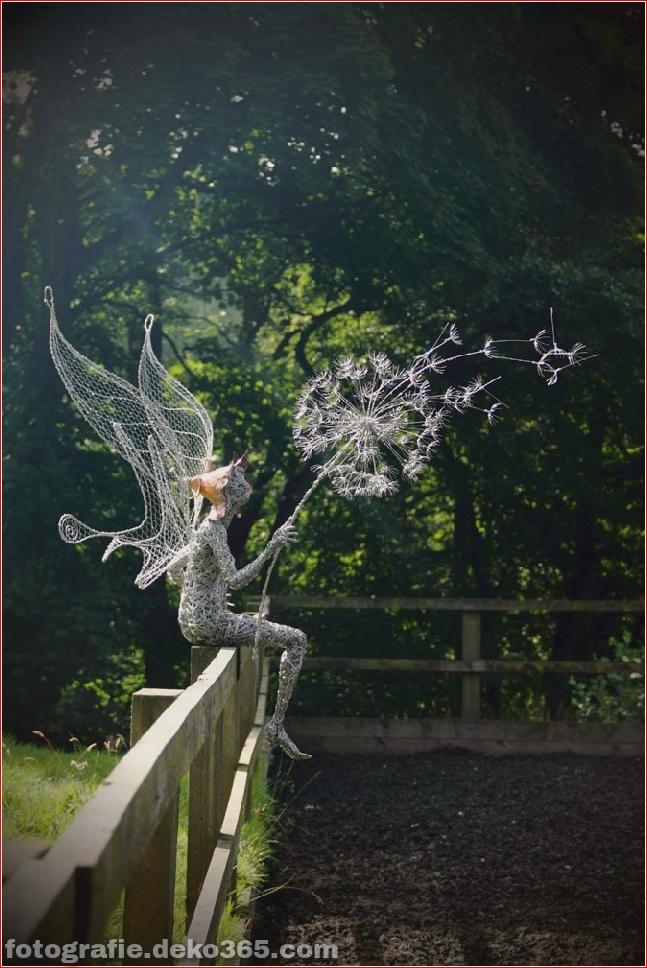 Dramatische Feen aus Edelstahldraht von Robin Wight (13)