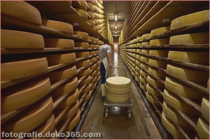 Schweizer Käsehersteller herstellen (6)