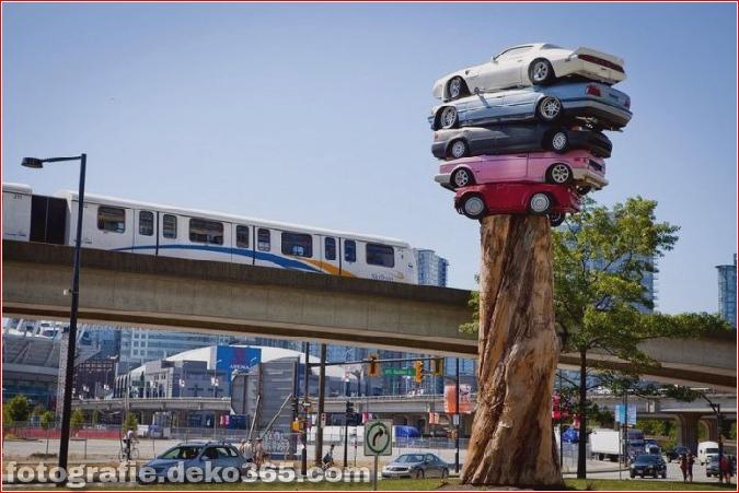Die Kunst des Stapelns von Autos (4)