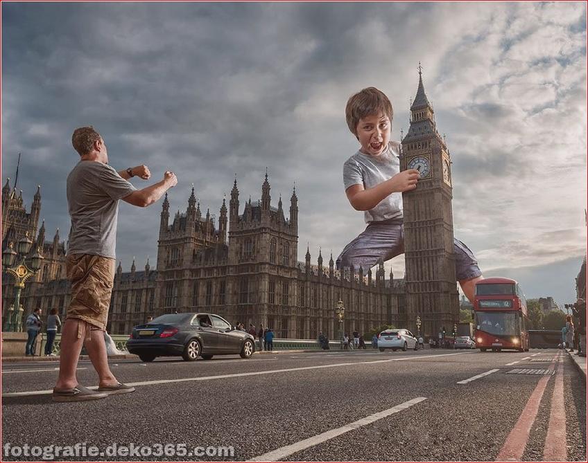 Ein Vater Kreative Photoshop-Arbeit (2)