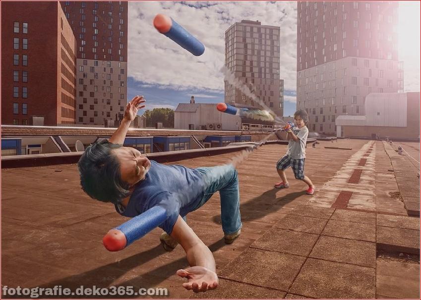 Ein Vater für eine kreative Photoshop-Arbeit (4)