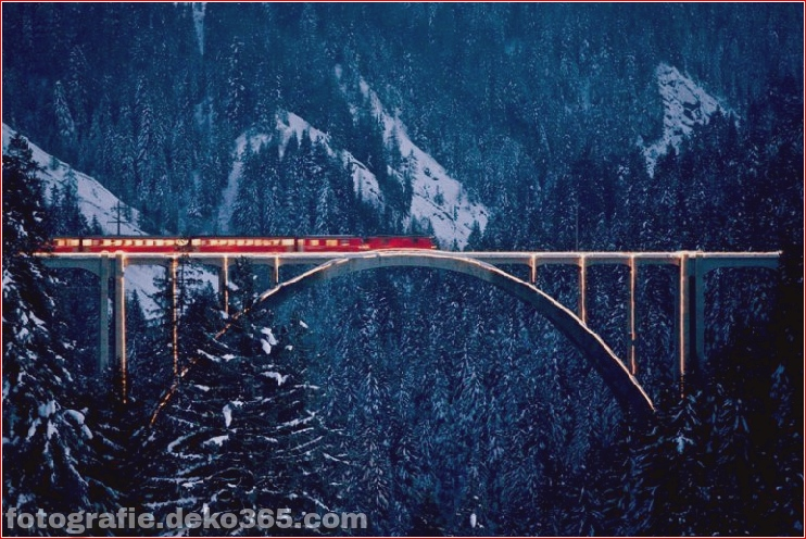 Spektakuläre Aussicht auf Züge Reisen (2)