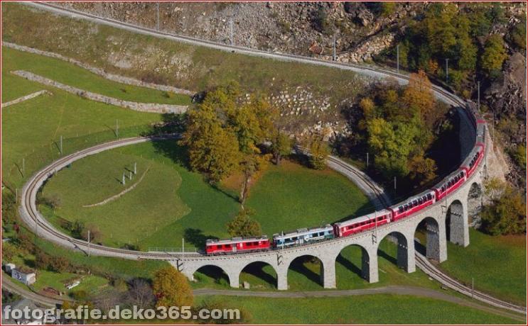 Spektakuläre Aussicht auf Züge Reisen (3)