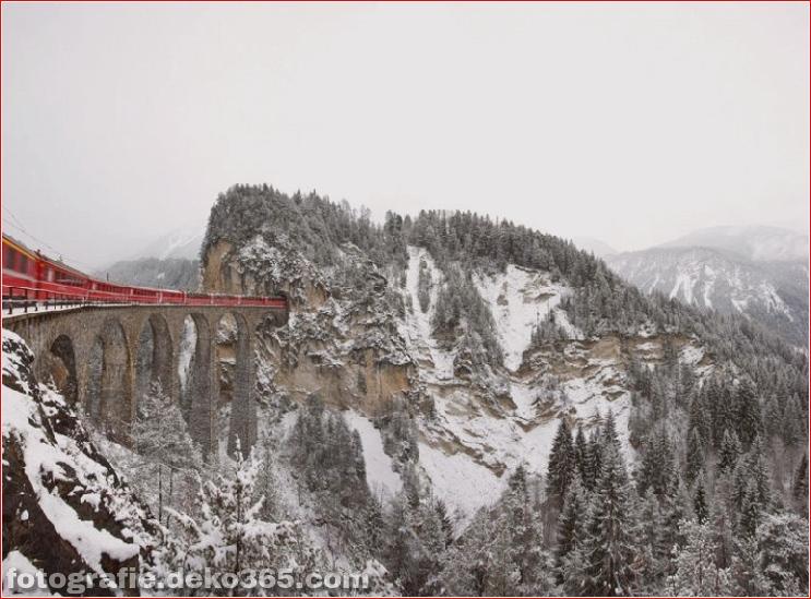 Spektakuläre Aussicht auf Züge Reisen (4)