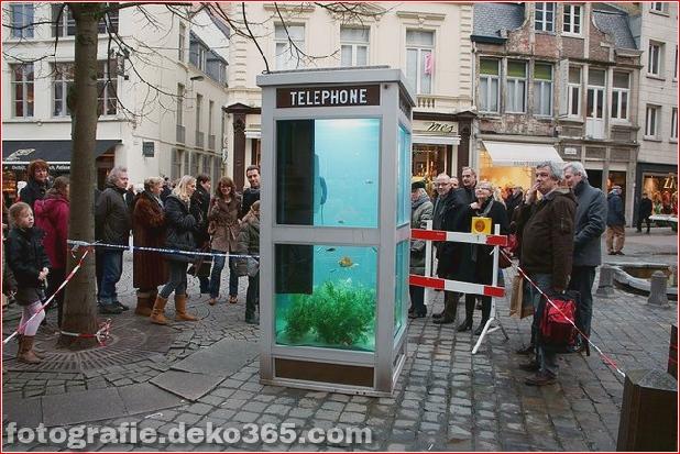 In Outdoor-Fischaquarien umgewandelte Telefonzellen (1)