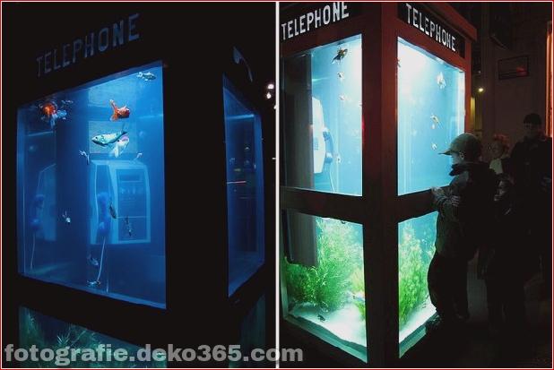 In Outdoor-Fischaquarien umgewandelte Telefonzellen (2)