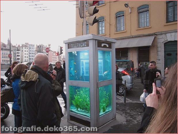 In Outdoor-Fischaquarien umgewandelte Telefonzellen (8)