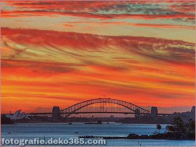 Sonnenuntergang über Sydney Harbour