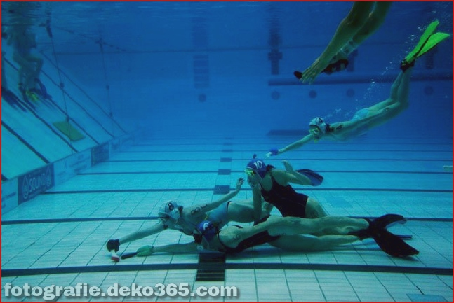 Underwater hockey. Sheffield, United Kingdom.