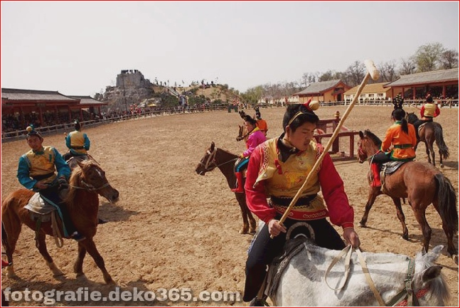 Ancient polo. Kaifeng, Henan Province, China.